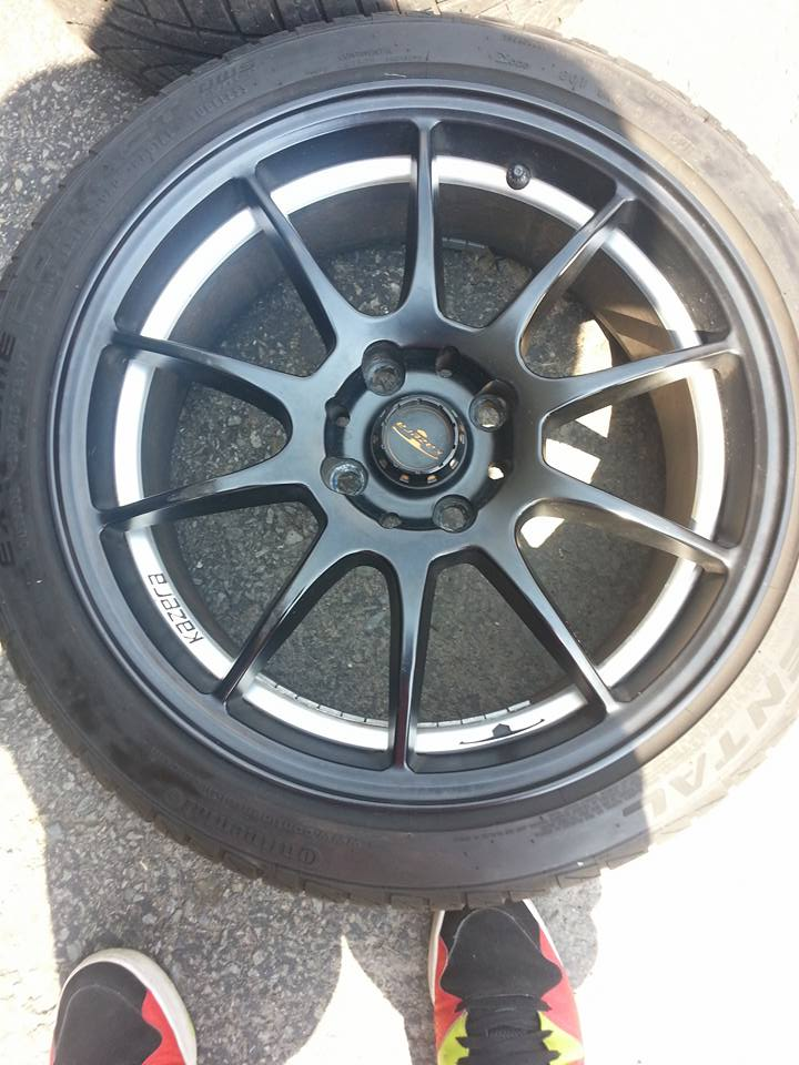 Fiesta St For Sale >> Black kazera rims with continental all season tires